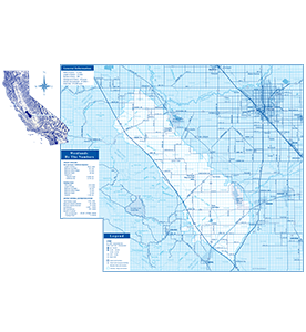 District Map Blue