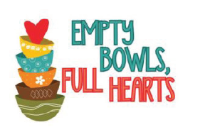Picture of empty bowls, full hearts