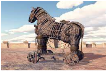 A picture of mechanical horse